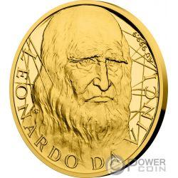 LEONARDO DA VINCI 500th Anniversary 1/2 Oz Gold Coin 25$ Niue 2019