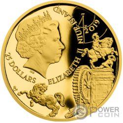 LEONARDO DA VINCI 500th Anniversary 1/2 Oz Moneda Oro 25$ Niue 2019