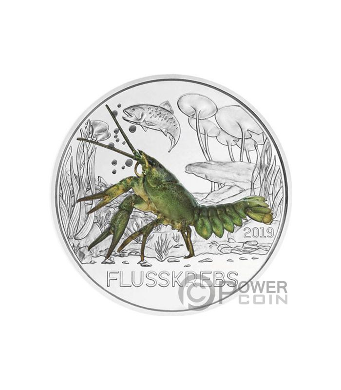 THE SHARK Colorful Creatures Glow In The Dark Coin 3€ Euro Austria 2018