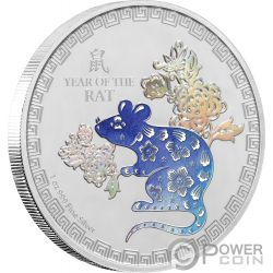YEAR OF THE RAT Rata Lunar Coin Collection 1 Oz Moneda Plata 2$ Niue 2020