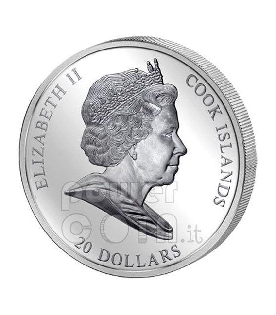 FRANZ MARC Cavallo Blu 3 Oz Moneta Argento 20$ Cook Islands 2011