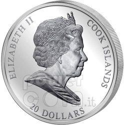 FRANZ MARC Blue Horse 3 Oz Серебро Монета 20$ Острова Кука 2011