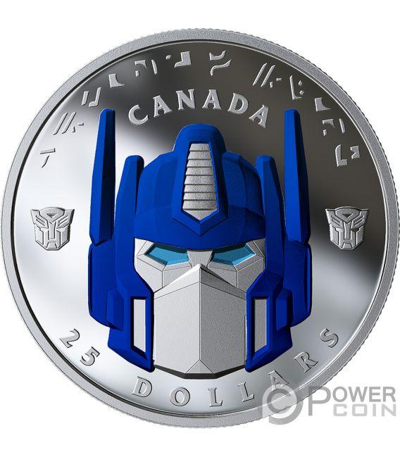 OPTIMUS PRIME Transformers Moneda Plata 25$ Canada 2019