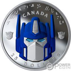 OPTIMUS PRIME Transformers Монета Серебро 25$ Канада 2019
