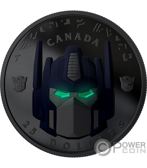 OPTIMUS PRIME Transformers Silber Münze 25$ Canada 2019