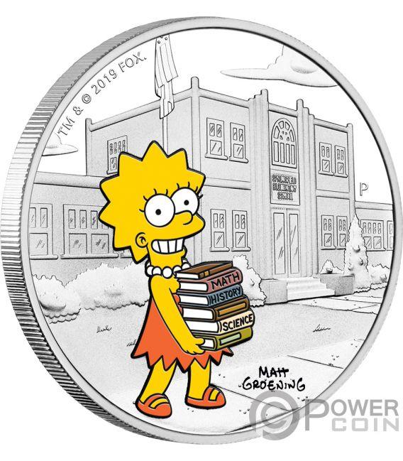 LISA Simpsons 1 Oz Silber Münze 1$ Tuvalu 2019