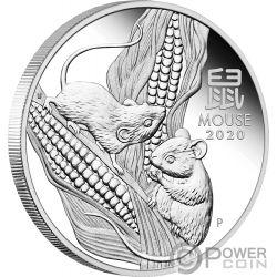 MOUSE Rata Lunar Year Series III 1 Oz Moneda Plata 1$ Australia 2020