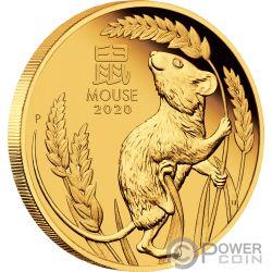 MOUSE Крыса  Lunar Year Series III 1 Oz Монета  Золото  100$ Австралия 2020