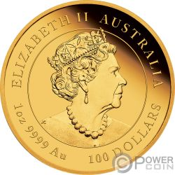 MOUSE Rata Lunar Year Series III 1 Oz Moneda Oro 100$ Australia 2020