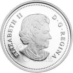 RAINDROP Crystal Swarovski Moneda Plata 20$ Canada 2011