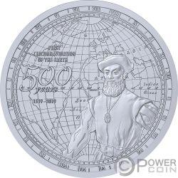 CIRCUMNAVIGATION EARTH 500th Anniversary Magallanes Moneda Plata 2$ Samoa 2019