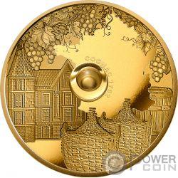 COGNAC Gautier 1762 Oldest Spirits 2 Oz Gold Coin 100 Francs Congo 2019