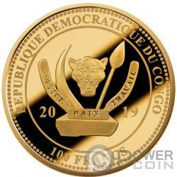 COGNAC Gautier 1762 Oldest Spirits 2 Oz Gold Münze 100 Franken Congo 2019