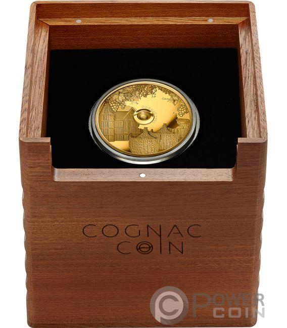 COGNAC Gautier 1762 Oldest Spirits 2 Oz Moneta Oro 100 Franchi Congo 2019