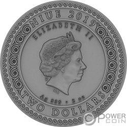 ARTEMIS Artemisia Itgoddesses 2 Oz Moneda Plata 2$ Niue 2019