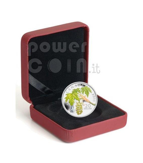 RAINDROP Crystal Swarovski Silver Coin 20$ Canada 2011