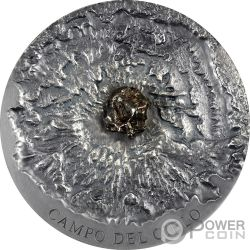 CAMPO DEL CIELO Meteorite Art 5 Oz Moneda Plata 5000 Francs Chad 2018