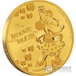MINNIE MOUSE Polka Dots Disney 1 Oz Gold Coin 250$ Niue 2019