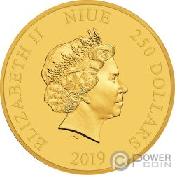 MINNIE MOUSE Pois Disney 1 Oz Moneta Oro 250$ Niue 2019
