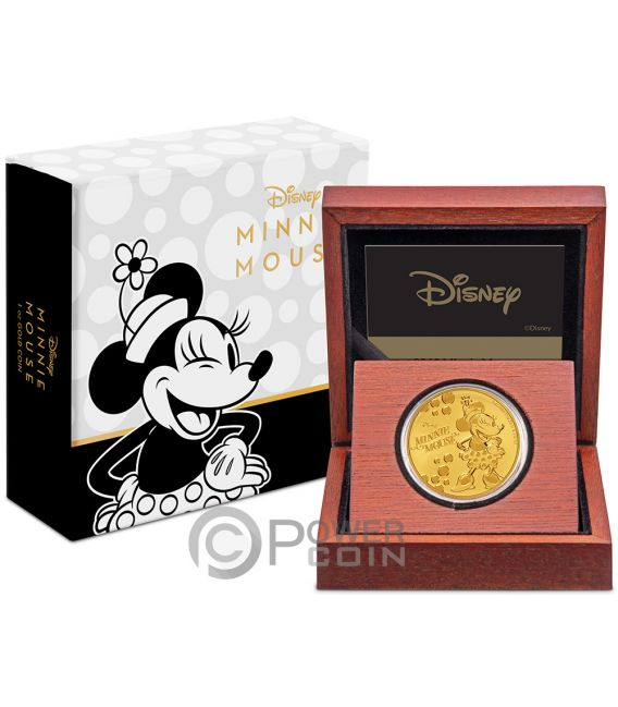 MINNIE MOUSE Polka Punkte Disney 1 Oz Gold Münze 250$ Niue 2019