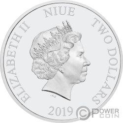 MINNIE MOUSE в Горошек 85 Юбилей Диснея 1 Oz Монета Серебро 2$ Ниуэ 2019