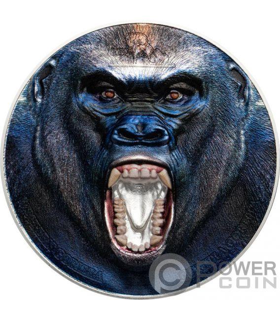 WESTERN GORILLA Rare Wildlife 2 Oz Silber Münze 1500 Shillings Tanzania 2019