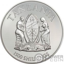 WESTERN GORILLA Rare Wildlife 2 Oz Silver Coin 1500 Shillings Tanzania 2019