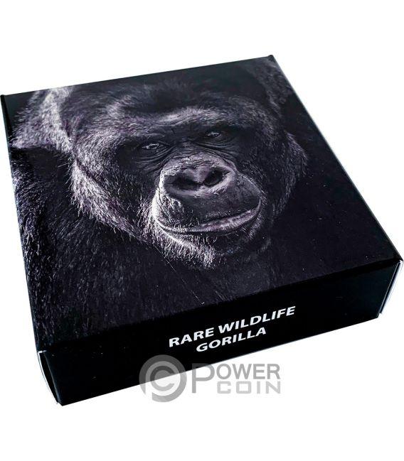 WESTERN GORILLA Rare Wildlife 2 Oz Moneda Plata 1500 Shillings Tanzania 2019
