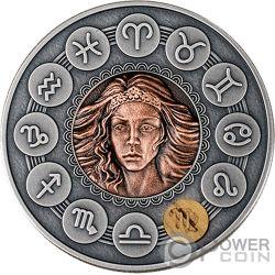 VIRGO Zodiac Signs 1 Oz Silver Coin 1$ Niue 2019