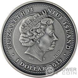 VIRGO Дева Zodiac Signs 1 Oz Монета Серебро 1$ Ниуэ 2019