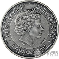 VIRGO Zodiac Signs 1 Oz Moneda Plata 1$ Niue 2019