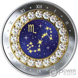 SCORPIO Зодиак Swarovski Кристалл Серебро Монета 5$ Канада 2019