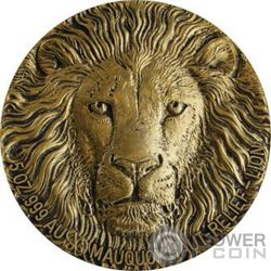 LION Leon Big Five Mauquoy 5 Oz Moneda Oro 10000 Francos Ivory Coast 2016