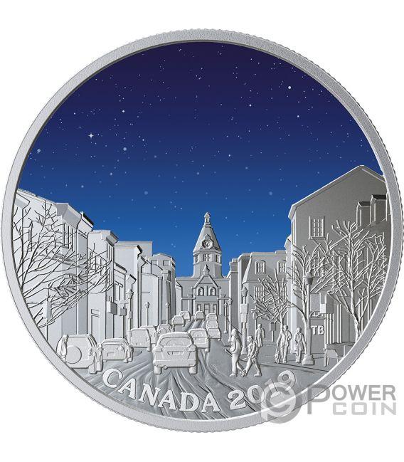 LIGHT PILLARS Pilares Luminosos Sky Wonders 1 Oz Moneda Plata 20$ Canada 2019
