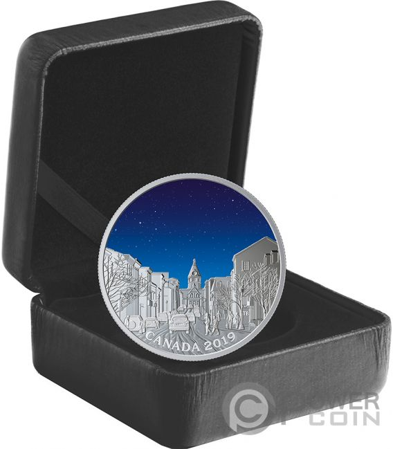 LIGHT PILLARS Sky Wonders 1 Oz Silver Coin 20$ Canada 2019