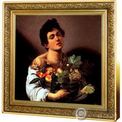 BOY BASKET FRUIT Caravaggio Treasures of World 1 Oz Silber Münze 1$ Niue 2019