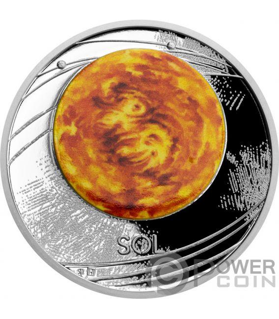SUN Sol Solar System 1 Oz Moneda Plata 1$ Niue 2019