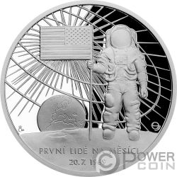 MOON LANDING Solar System 1 Oz Silber Münze 2$ Niue 2019