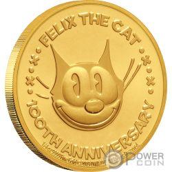 FELIX THE CAT Кошка 100 юбилей 1/4 Oz Монета Серебро 25$ Ниуэ 2019