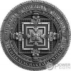 KALACHAKRA Ancient Calendars 2 Oz Moneda Plata 5$ Niue 2019