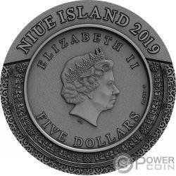 KALACHAKRA Ancient Calendars 2 Oz Монета Серебро 5$ Ниуэ 2019