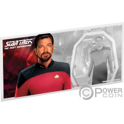 WILLIAM RIKER Star Trek Next Generation Characters Foile Silber Note 1$ Niue 2019