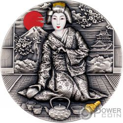GEISHA Japanese Culture 2 Oz Moneda Plata 2$ Niue 2019