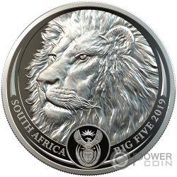 LION Лев Big Five 1 Oz Монета Платина 20 Ренд Южная Африка 2019