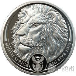 LION Lowe Big Five 1 Oz Platin Münze 20 Rand South Africa 2019