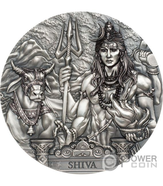 SHIVA Universe Gods Of The World 3 Oz Silver Coin 20$ Cook Islands 2020