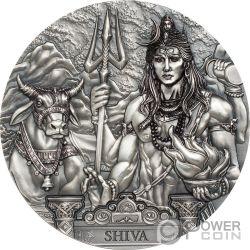 SHIVA Kosmos Gods Of The World 3 Oz Silber Münze 20$ Cook Islands 2020