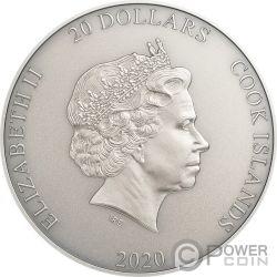 SHIVA Вселенная Gods Of The World 3 Oz Монета Серебро 20$ Острова Кука 2020