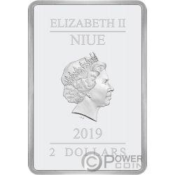 SEASONS GREETINGS Clasicos Disney 1 Oz Moneda Plata 2$ Niue 2019