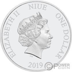 SEASONS GREETINGS Frozen Disney 1/2 Oz Moneda Plata 1$ Niue 2019